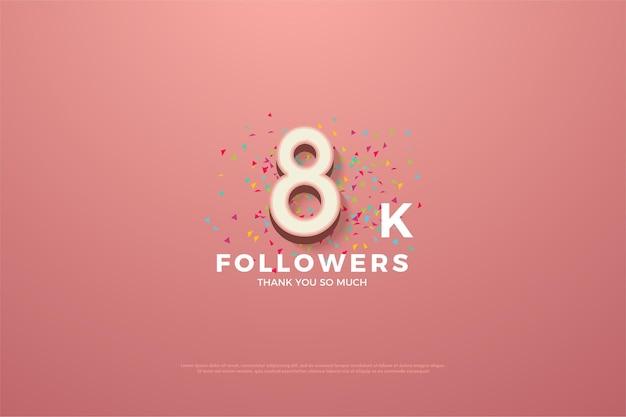 8k follower mit bunter zahl