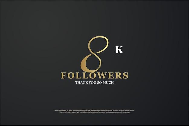8k follower mit eindeutiger nummer
