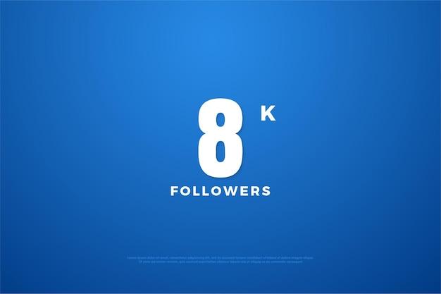 8k follower mit flacher nummer