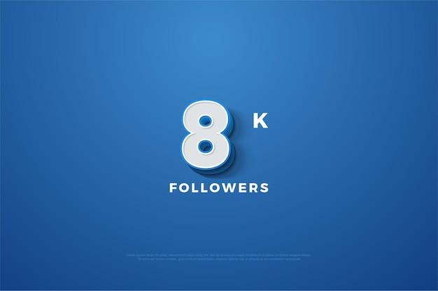 8k follower mit geprägter nummer