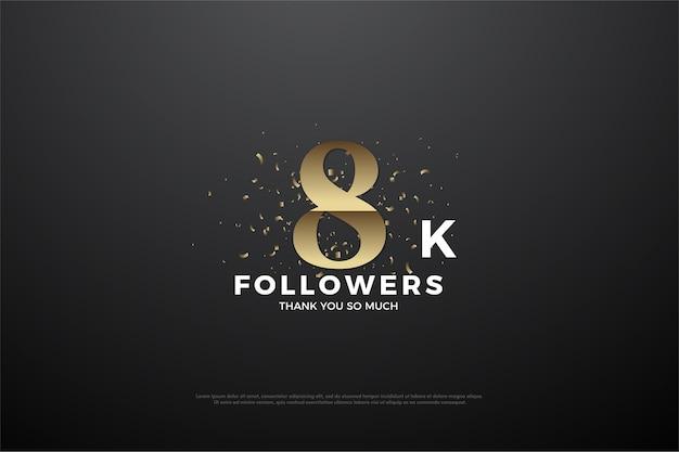 8k follower mit goldener zahl