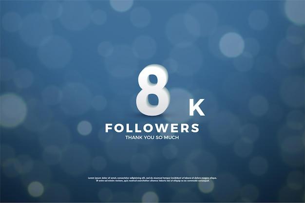 8k follower mit nummer und bokeh