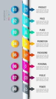 8p-analyse business- oder marketing-infografik-vorlage
