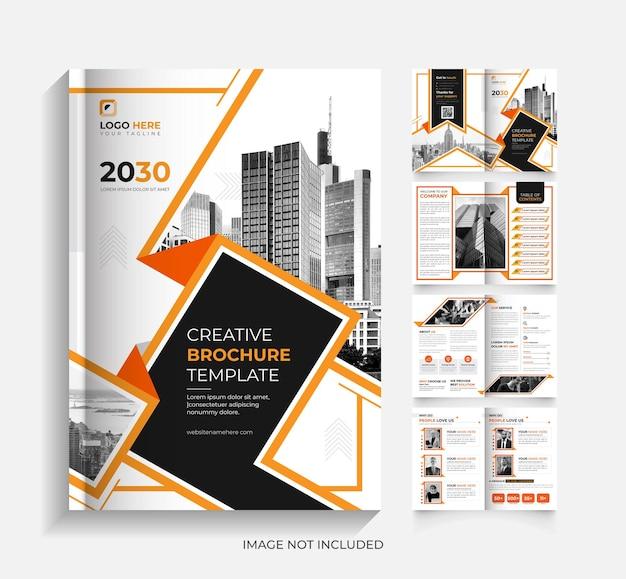8seitiges corporate-business-broschürendesign
