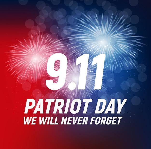 9.11 grußkarte zum patriot day. wir werden niemals vergessen