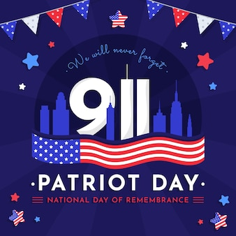 9.11 patriot tag abbildung Kostenlosen Vektoren