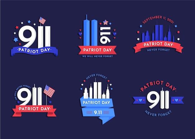 9.11 patriot-tages-abzeichen-sammlung