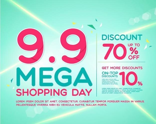 9.9 vorlage für den mega-einkaufstag