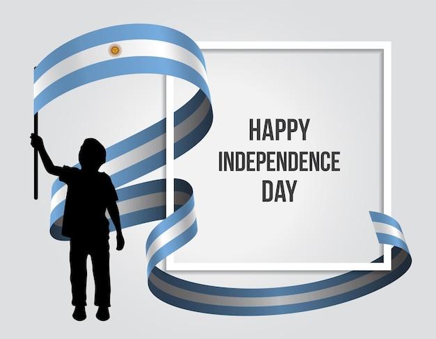 9 de julio declaracion de independencia de la argentinien illustration