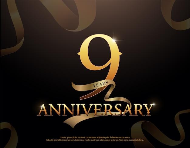 9-jähriges jubiläumsfeier-logo