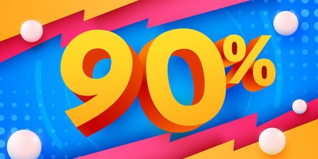 90 prozent rabatt auf kreative komposition d mega-verkaufssymbol mit dekorativen objekten verkaufsbanner und poster