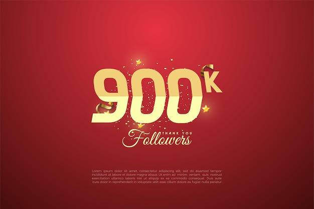900k follower hintergrund mit abgestuften zahlen