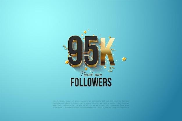 95.000 follower mit massiv vergoldeten nummern