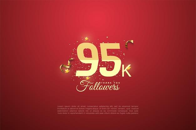 95k follower mit abgestuften zahlen