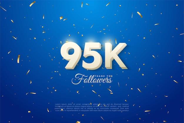 95k follower mit leuchtenden zahlen