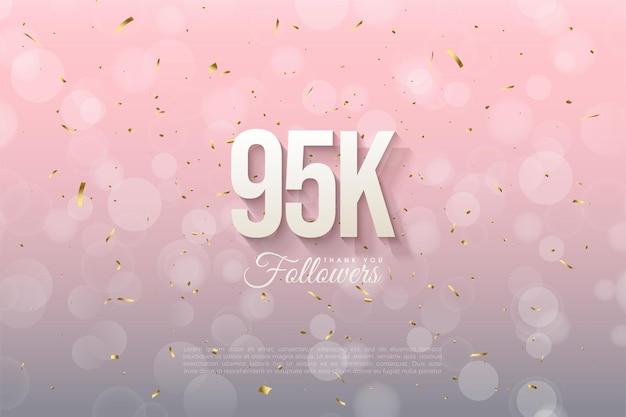 95k follower mit schattierten zahlen