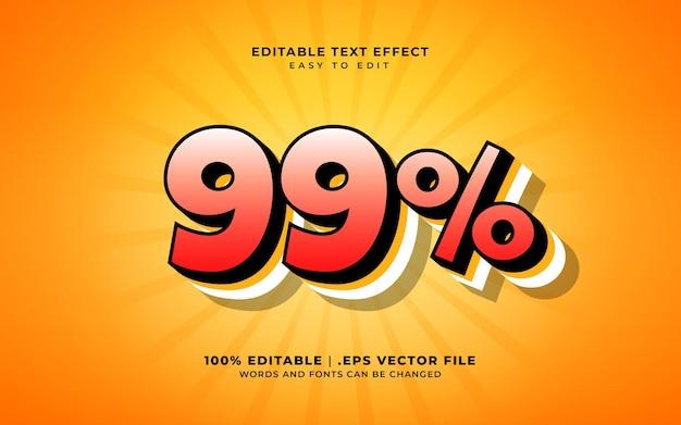 99% rabatt-texteffekt