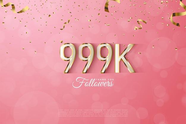 999.000 follower mit luxuriösem goldrand