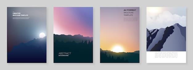 A4-broschürenlayout der deckblattvorlagen für flyer, a4-broschürendesign, präsentation, magazin
