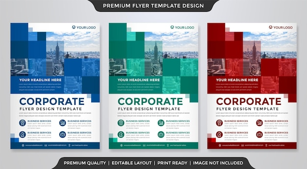 A4 corporate flyer template design