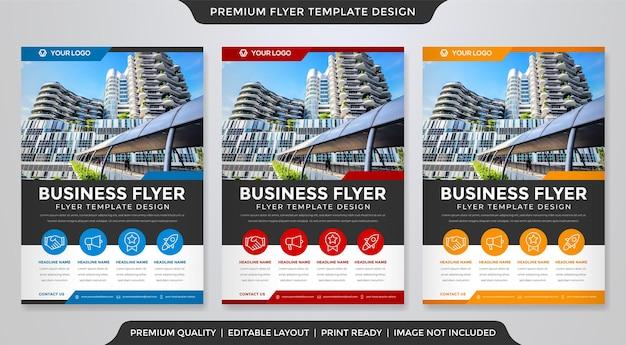 A4 flyer vorlage design-stil