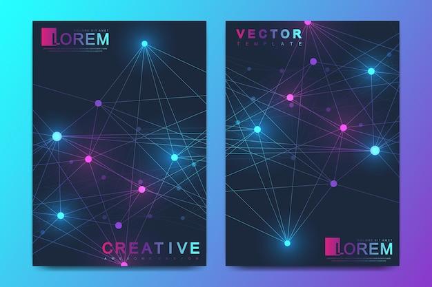 A4-format futuristisches wissenschafts- und technologiedesign