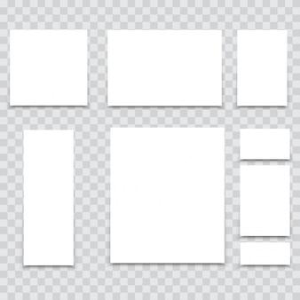 A4-papierblätter auf dem schreibtisch zum branding. vektor.