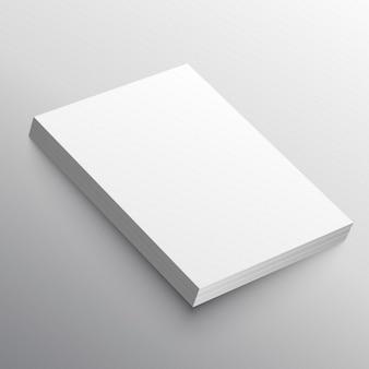 A4 papierstapel mockup in 3d-stil