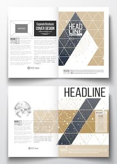 A4-vorlagen für broschüre, flyer, bericht