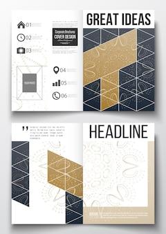 A4-vorlagen für broschüre, flyer, broschüre, bericht