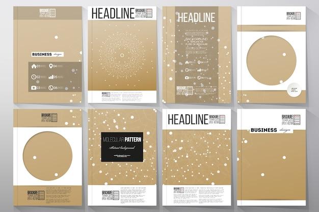A4-vorlagen für broschüre, magazin, flyer, broschüre,
