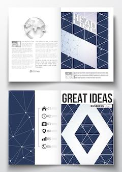 A4-vorlagen für broschürenanbindung