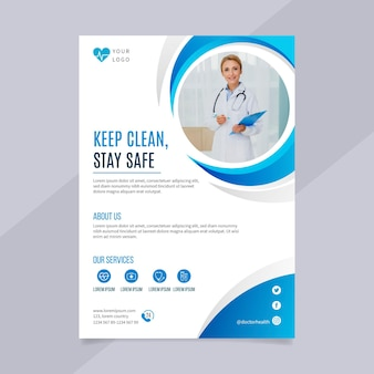 A5 flyer template design