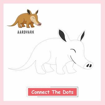 Aardvark verbinden die punkte