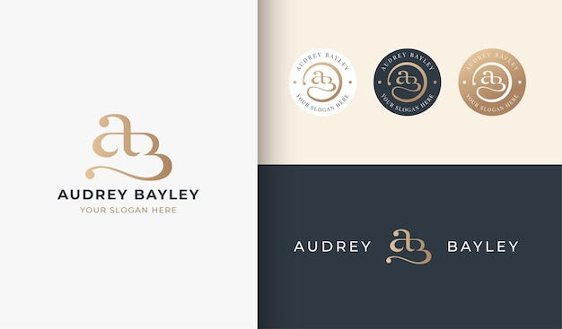 Ab-monogramm-serif-buchstaben-logo-design