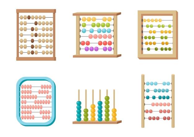 Abakus-set, spielzeug mit bunten perlen für die geistige entwicklung von kindern