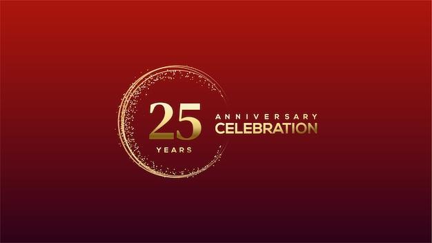 Abbildung 25 zum feiern. mit luxuriösen und eleganten goldnummern.