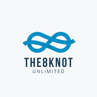 Abbildung acht knoten, emblem oder logo-vorlage. unendlichkeitssymbol-bandkonzept.