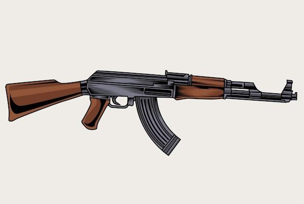 Abbildung ak 47 pistole Premium Vektoren