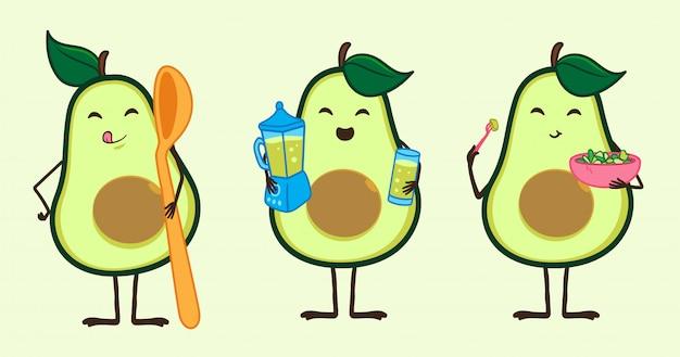 Abbildung avocado charakter