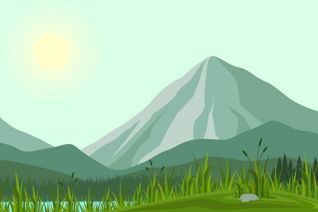 Abbildung der berge