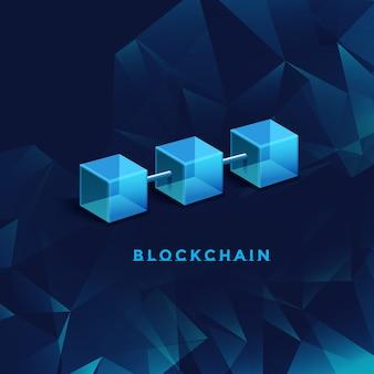 Abbildung der blockchain-technologie