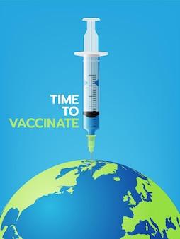 Abbildung der coronavirus-impfung.