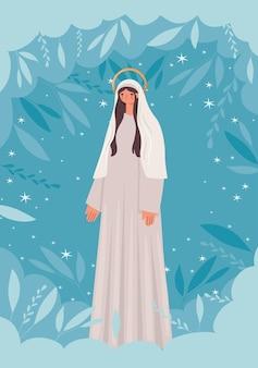 Abbildung der heiligen maria