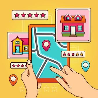 Abbildung der immobiliensuche