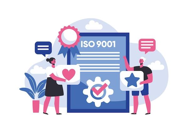 Abbildung der iso-zertifizierung