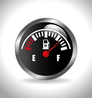 Abbildung der kraftstoffanzeige