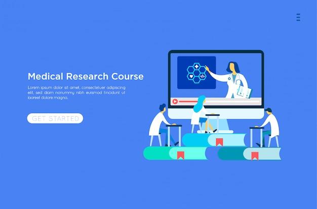 Abbildung der medizinischen online-ausbildung
