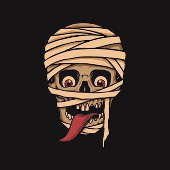 Abbildung der mumie schädel