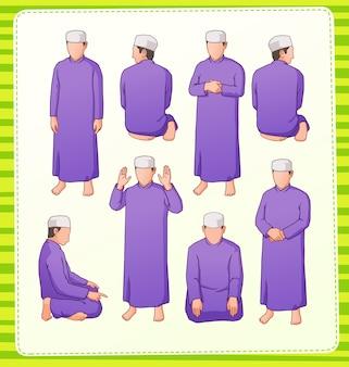 Abbildung der muslimischen betenden position